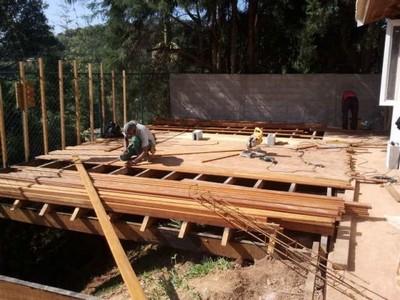 Construção de Estrutura em Madeira Jardim Bonfiglioli - Construção de Pergolado em Madeira