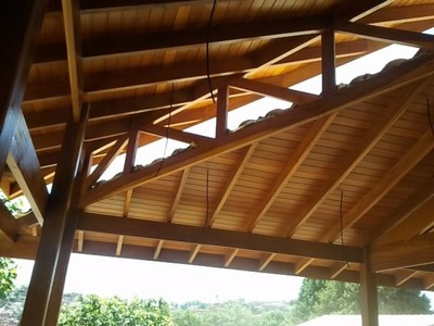 Construção de Pergolado em Madeira Preço Centro - Construção de Estrutura em Madeira