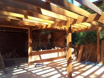 Construção de Pergolado em Madeira Tatuí - Construção de Casa em Madeira