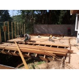 Construção de Estrutura em Madeira Jardim Bonfiglioli
