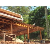 Construções de Pergolado em Madeira Glicério