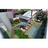 onde encontro projetos residenciais com piscina Água Branca