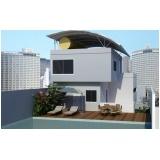 onde encontro projetos residenciais para terrenos estreitos Chácara Santo Antônio