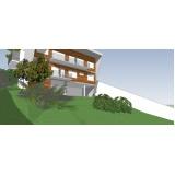 projeto para residência moderna Santa Cecília
