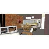 projeto para interiores de residencia