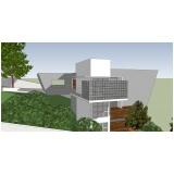 projeto para residência moderna