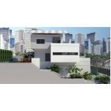 projetos residenciais para terrenos estreitos preço Santo Amaro