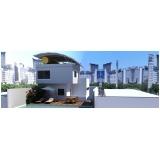projetos residenciais para terrenos estreitos Santana de Parnaíba